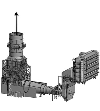 Gas turbine diagram